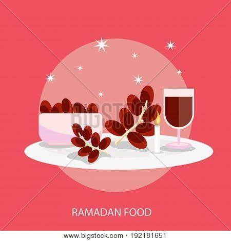 Ramadan Food Conceptual Design | Set of great flat design illustration concepts for religion, ramadan, islamic and much more.