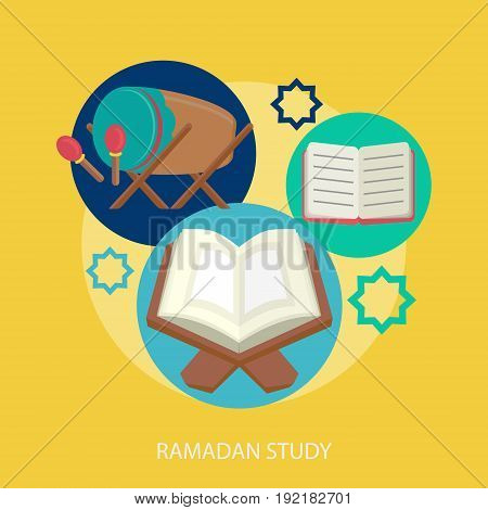 Ramadan Study Conceptual Design | Set of great flat design illustration concepts for religion, ramadan, islamic and much more.