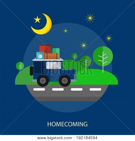 Homecoming Conceptual Design | Set of great flat design illustration concepts for religion, ramadan, islamic and much more.