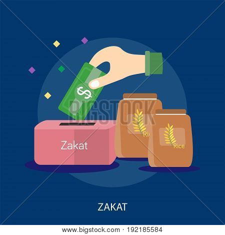 Zakat Conceptual Design | Set of great flat design illustration concepts for religion, ramadan, islamic and much more.