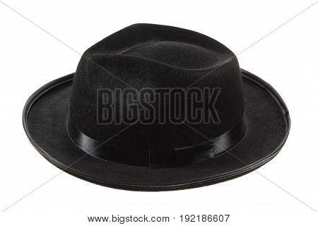 Black Fedora Hat on a White Background