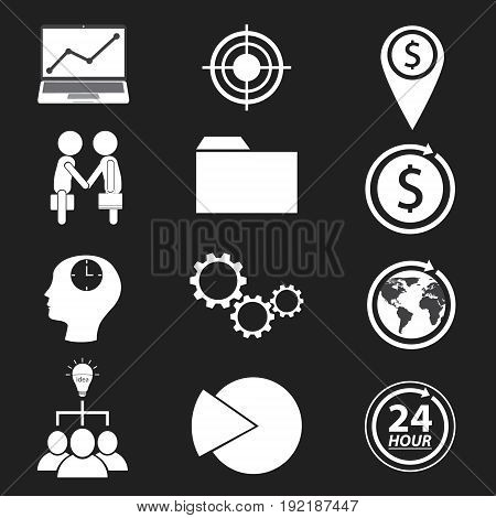 business and finance icon design. vector illustration.