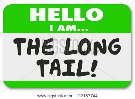 The Long Tail Name Tag Sticker Lasting Long Running Results Illustration