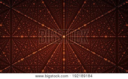 Vector interstellar space background.Cosmic galaxy illustration.Background with nebula, stardust and bright shining stars.Vector Illustration for party , artwork, brochures, posters.