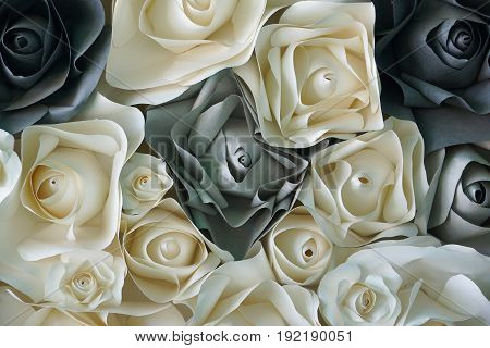 Background of rose flower made of paper