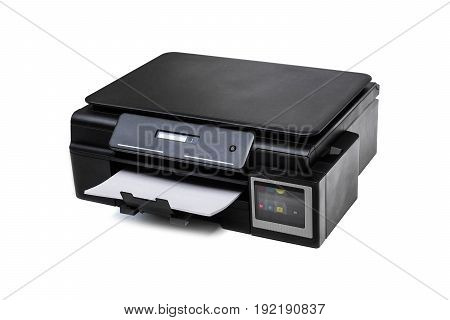 A Color printer isolated on white background