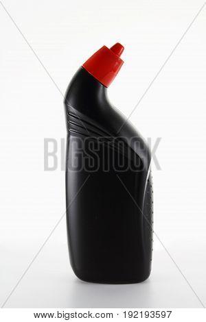 Bottle of Toilet Cleanser on Seamless White Background