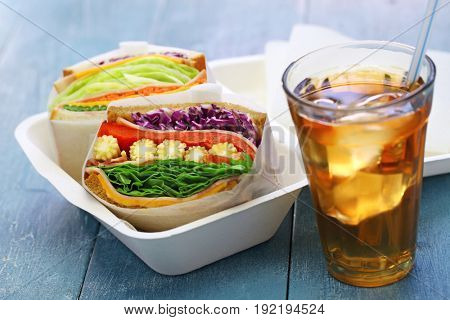 homemade thick veg sandwich