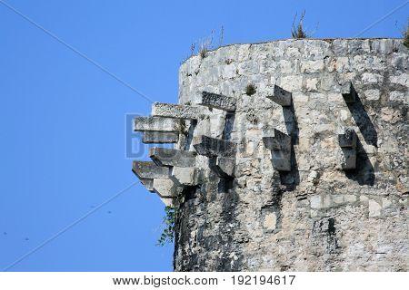 top of tower in Kr, island Krk, Croatia