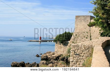 view from the defence wall of Krk, Croatia