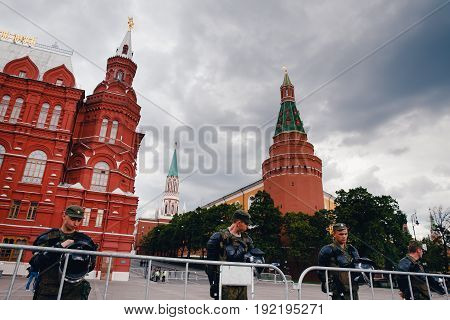 Moscow, Russia- June 12, 2017: Rally in support of anti-corruption and presidential elections