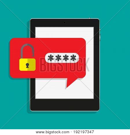 concept of smartphone security personal access user authorization login protection technology