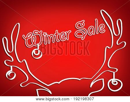 Christmas sale. The horns of a deer labeled
