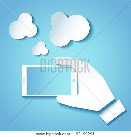 Smartphone icon Smartphone icon web Smartphone photo . Smartphone icon object. Taking a selfie photo flat design on blue background