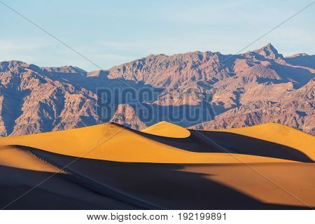 Sand dunes in Death Valley National Park, California, USA