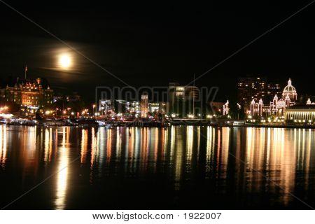Moonrise Over Victoria