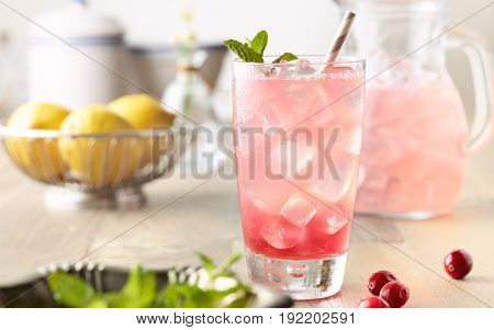 Drinks joined by a quantity of different fruits