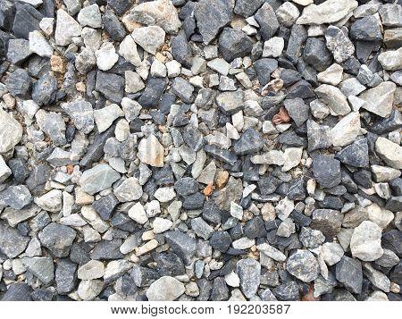 close up dry granite stone texture on the ground