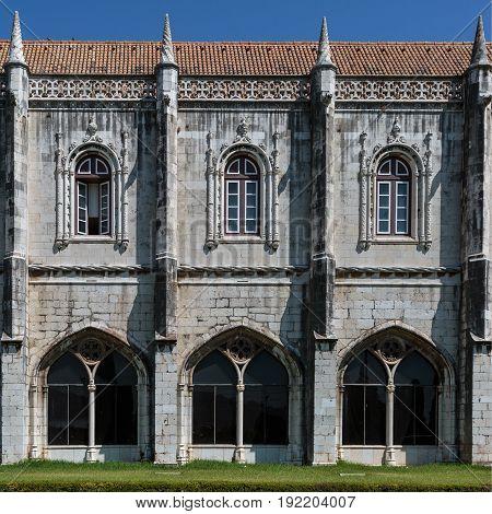 Detail Of Jeronimos Monastery In Belem, Lisbon - Portugal