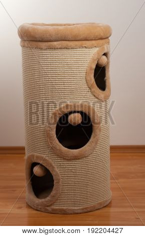 Scratching barrel,  scratching cylinder for cats at home