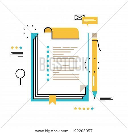 Questionnaire clipboard, evaluation, clipboard with blank checklist form, to-do list, planning project, assessment, data collecting vector illustration design for mobile and web graphics