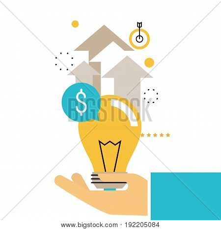Financial consulting, finance guidance, business advisor, investment assistance, money management vector illustration design for mobile and web graphics