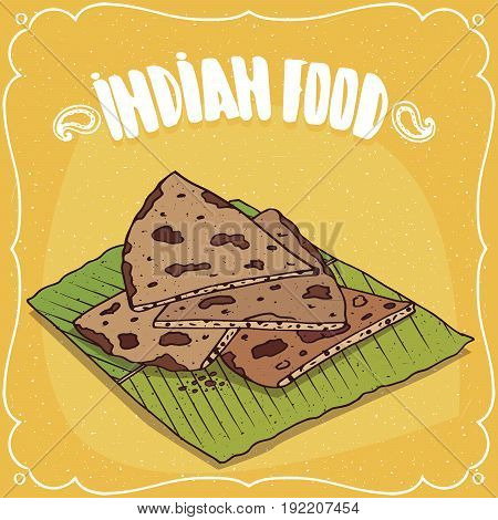 Indian Flatbread Roti Or Chapati Or Paratha