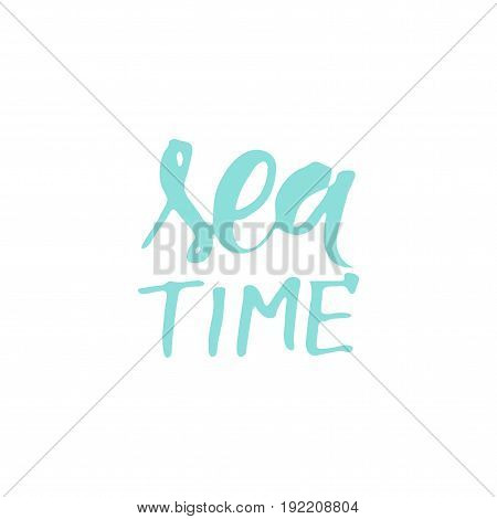 Sea quotes. Hand lettering illustration for your design.