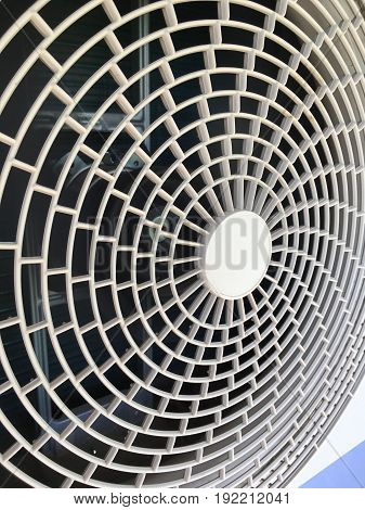 close up electric fan of air conditioner