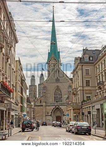 Fraumuenster / Grossmuenster (landmarks) Of Zurich, Downtown