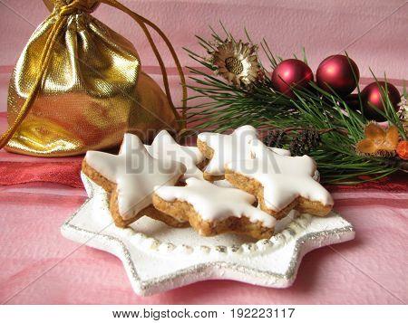 Homemade cinnamon stars cockies for advent and christmas