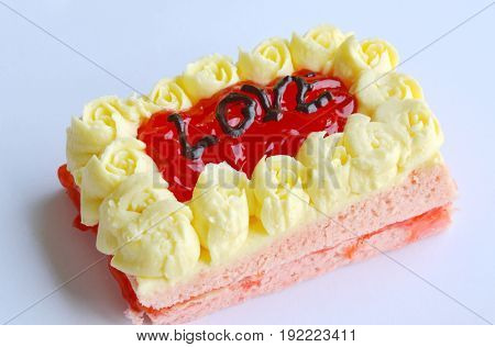 strawberry butter cake decorate love for valentine day