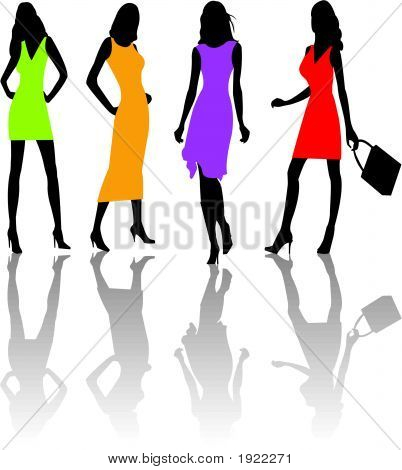 Fashion Girls  Vector Illustration