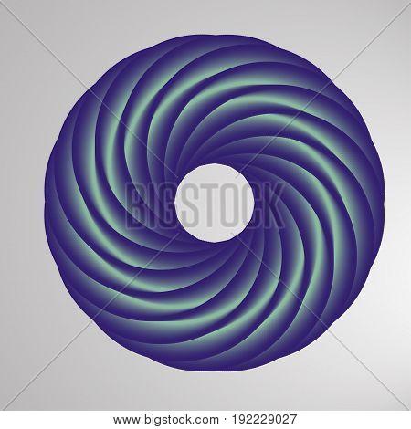 Abstract Geometric Shape With Torus-like Figure