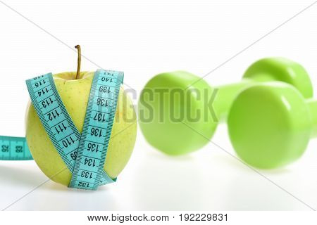 Apple Fruit And Blue V Shaped Measuring Tape