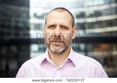 Portrait Of Positive Man