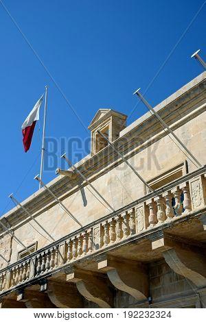 Holy Infirmary building along Triq Il-Mediterran Valletta Malta Europe.