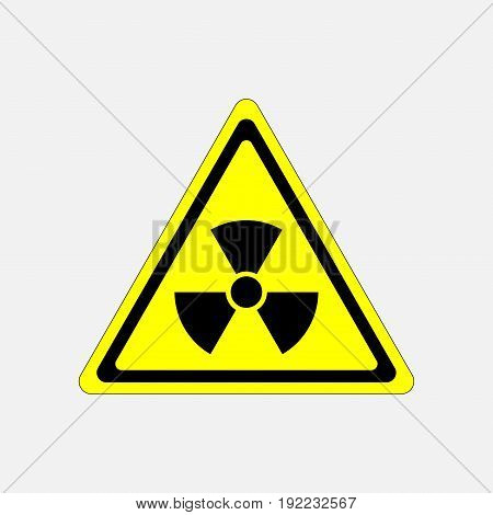 danger sign radiation symbol threat radiation warning sign in a yellow triangle fully editable image