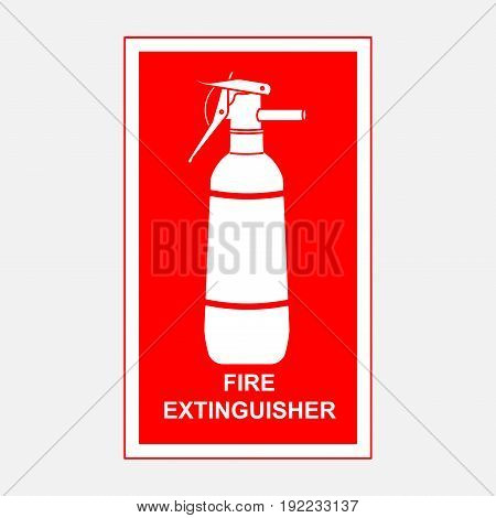 fire extinguisher sign security fire-extinguishing fully editable image