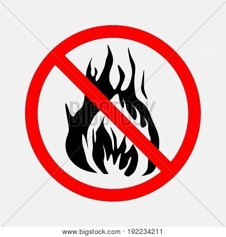 prohibiting sign no fire no smoke prohibitory sign no fire editable image