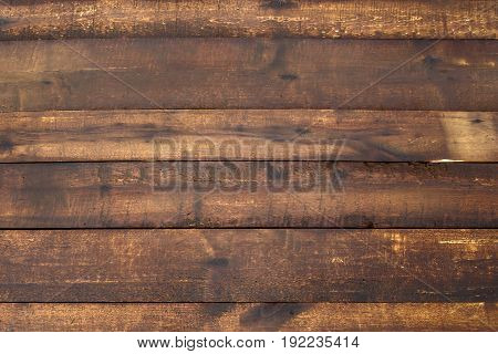 Natural hardwood Board is wet after rain, background of wood brown. The texture of the wet wood.