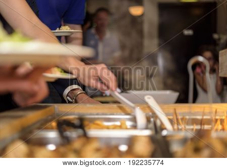 Customer In Restaurant Blur Background With Bokeh5