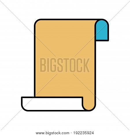 color sections silhouette of continuously sheet in blank vector illustration