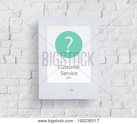 FAQ Customer Service Help Support Exclamation Graphic