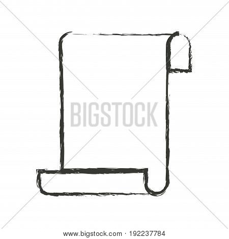monochrome blurred silhouette of continuously sheet in blank vector illustration