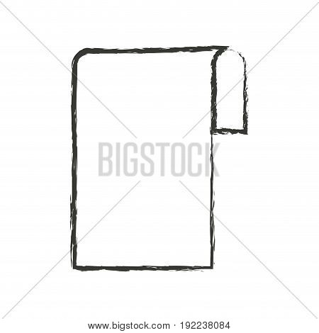 monochrome blurred silhouette of sheet continuously in blank vector illustration