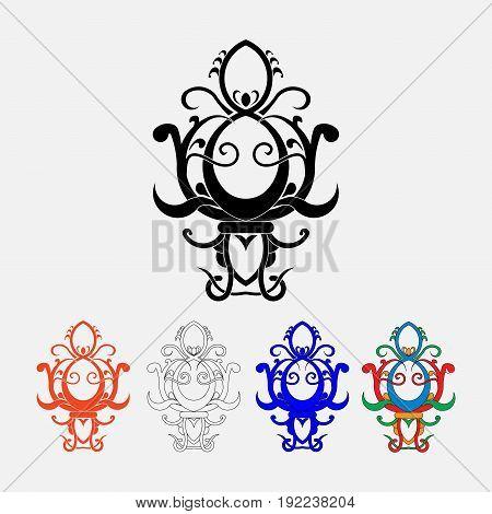 fleur-de-lis the heraldic symbol of royal lily symbols for design royal colors fully editable image