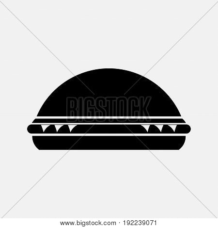 icon burger a dining room a snack bar a place to eat fully editable image