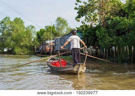 Mekong Delta In Vietnam