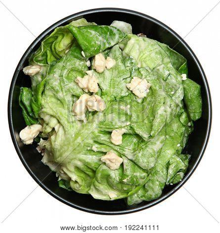 Crème fraîche Butter Lettuce Salad with Blue Cheese Crumble